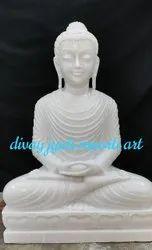 White Marble Budda Statue
