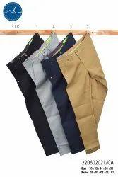 Cotton Flat Trousers Men Formal Pant