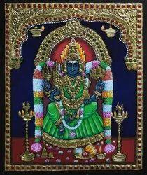 Angala Parameshwari Tanjore Painting