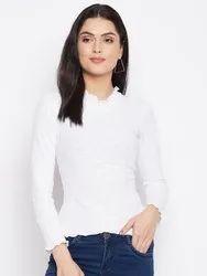 Harbornbay Women White Pockets T-shirt