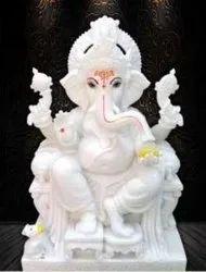 White Vinayagar Picture Tiles