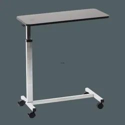 Height Adjustable Hospital Bedside Overbed Table with Wheels
