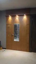 Exterior Veneer Wooden Door, For Home, 2400mm X 1200mm