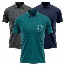Cotton Men Polo T Shirt with Custom Logo Print