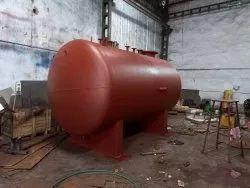 Horizontal MS Air Receiver, 0-100 psi, Storage Capacity: 500-40000L