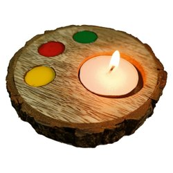 Coaster  Diwali Diya Wood Candle T Light Holder