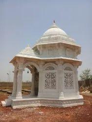 White Stone Outdoor Temple, For Religious Places, Size: 12x10 Feet