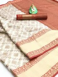 6 Color Banarasi Handloom Weaving Soft Silk Patola Saree, Dry Clean Only, 6.30 With Blouse