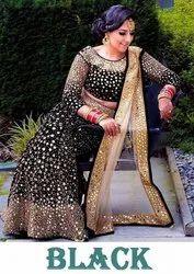 Present Velvet Designer Lahenag Choli With Real Mirror Work