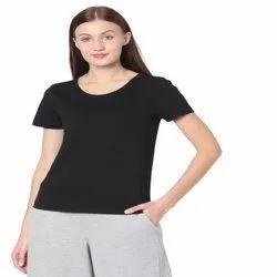 Half Sleeve Ladies Round Neck T Shirt