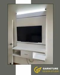 White Wooden Bedroom LCD TV Unit, For Home,Hotel