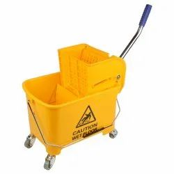 Wringer Trolley With Single Buckets