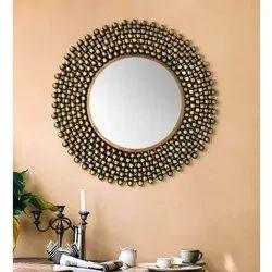 Rajasthan Handicraft Decorative Round Mirror, For Decoration Purposes, Size: 25 X 1 X 25 Inch