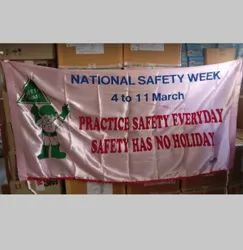 National Safety Week Banner - Satin Fabric