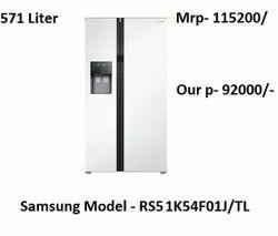 Frost Free Samsung Side By Side Refrigerator 571 Liter RR51K54F01J/TL