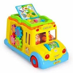 Plastic School Bus Activity Toy, Child Age Group: 5 Years
