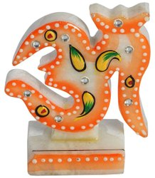 White Marble Handicraft-OM, For Corporate Gifting, Size: 6 Inch