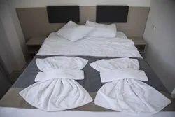 Sleep Style Plain White Hotel Bath Towel
