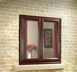 Fancy UPVC Rectangular Glass Window, Glass Thickness: 7 Mm