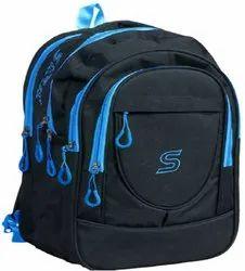 Nylon Plain Black School Bag, For College, Size/Dimension: 2*5 Inches Lxb