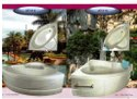 Acrylic Corner Jacuzzi Bathtub