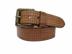 Matteo Brown MD- 17 Mens Designer Leather Belt
