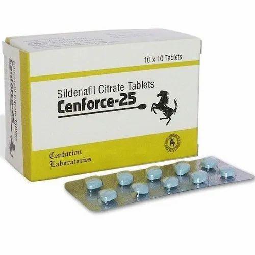 25 Mg Cenforce -25 Sildenafil Citrate Tablets, Prescription, Rs 1000 /box |  ID: 23138309912