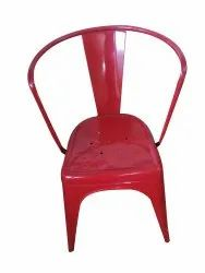Paint Coated Iron Red Chair, For Restaurant