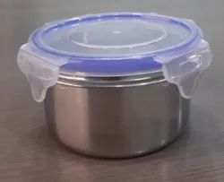 STAINLESS STEEL LUNCH BOX WITH PLASTIC LID