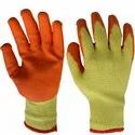 SS & WW Make Yellow Cotton Yarn Knitted Gloves
