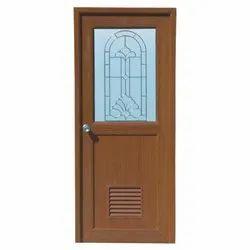 Decorative PVC Glass Door, Exterior