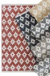 棉花印花设计师手使室地毯,尺寸:4 x 6英尺