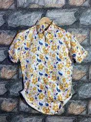 Collar Neck African Printed Men Shirt