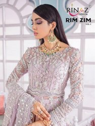 Rinaz Fashion Rim Zim Vol 5 Butterfly Net With Work Pakistani Suit Catalog