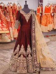 Present Designer Micro Cotton Gown With Embroidery Work