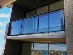 Aluminium Glass Balcony Railing, For Home