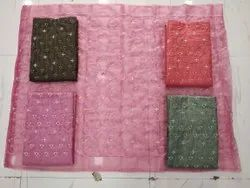 Cotton Hand Work Unstitched Dress Material