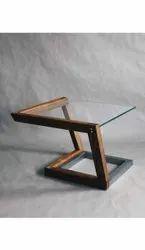 Brown Rectangular Glass Tea Table