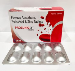Ferrous Ascorbate 100 Mg, Folic Acid 1.5 Mg & Zinc Sulphate Monohydrate Ip 22.5 Mg  Tablet