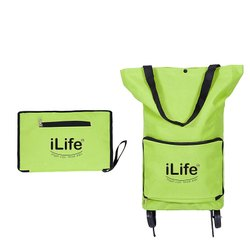 Green iLife Collapsible Trolley Bag, For Travelling, Size: 24 X 50 X 27 X 14 Cm