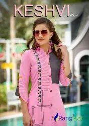 Formal Wear Straight Keshvi Vol-4 Kurti, Wash Care: Dry clean