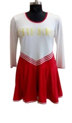 Rayon White, Red Ladies Designer Midi Dress