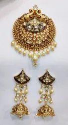 22KT Kundan Jadau Gold Necklace