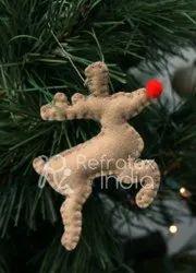Natural Christmas Felt Ornament