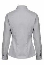 Linen Plain Girls Formal Shirt
