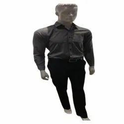 Black Cotton Men Office Pant Shirt Set, Size: S-xl