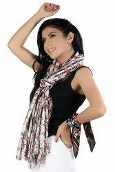 Voile printed scarves