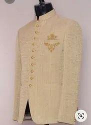 Cotton Plain Men Party Wear Coat