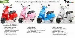 Kids 6V Battery Operated Toyhouse Vespa Scooter