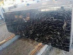 Polished Black Markino Granite Slabs, Thickness: 17 mm